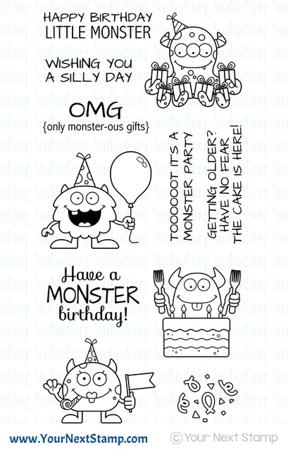 Your Next Stamp SILLY BIRTHDAY MONSTERS Clear CYNS585 zoom image