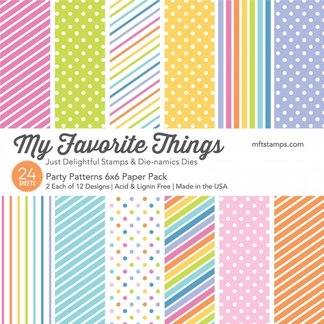My Favorite Things PARTY PATTERNS 6x6 Paper Pack 17982 zoom image