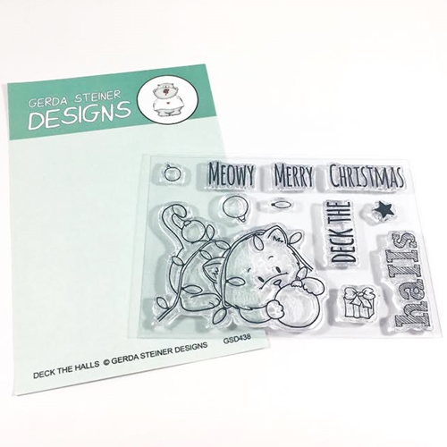 Gerda Steiner Designs DECK THE HALLS Clear Stamp Set GSD438* Preview Image