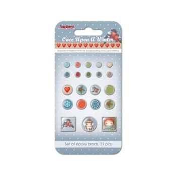 ScrapBerry's ONCE UPON A WINTER Brads SCB340978