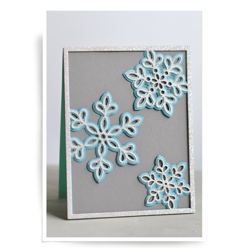 Birch Press Design SHIMMER SNOWFLAKE FRAME LAYER SET Craft Dies 56064* Preview Image