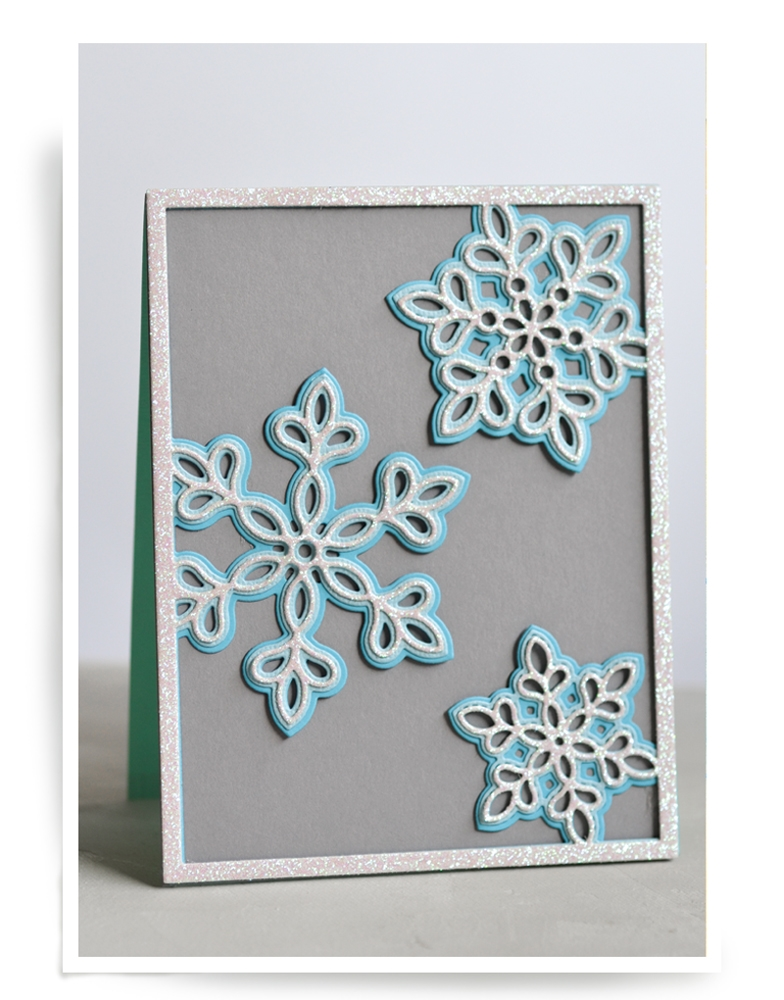 Birch Press Design SHIMMER SNOWFLAKE FRAME LAYER SET Craft Dies 56064* zoom image