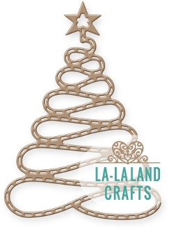 La-La Land Crafts SPIRAL CHRISTMAS TREE Die 8324 Preview Image