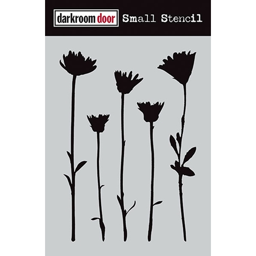 Darkroom Door WILDFLOWERS Small Stencil DDSS004 Preview Image