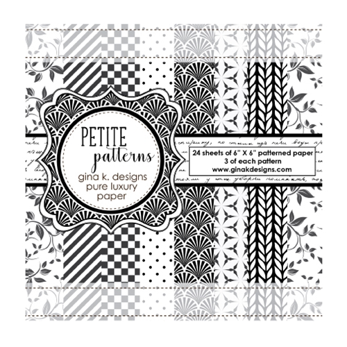 Gina K Designs PETITE PATTERNS Pure Luxury 6x6 Patterned Paper 1219 Preview Image
