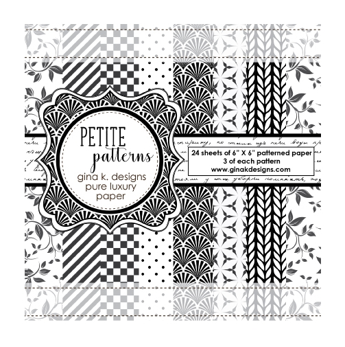 Gina K Designs PETITE PATTERNS Pure Luxury 6x6 Patterned Paper 1219 zoom image