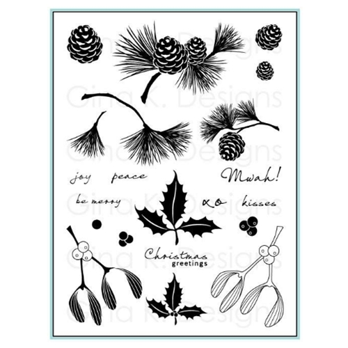 Gina K Designs FESTIVE FOLIAGE Clear Stamps 1103 Preview Image