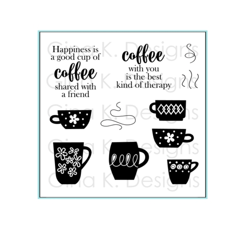 Gina K Designs COFFEE THERAPY Clear Stamps 1110 zoom image
