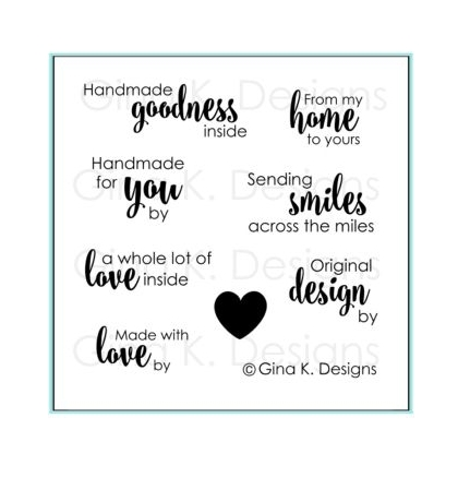 Gina K Designs HANDMADE GOODNESS Clear Stamps 1097 zoom image
