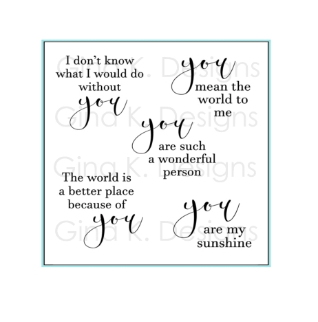 Gina K Designs ALL ABOUT YOU Clear Stamps 1158 Preview Image