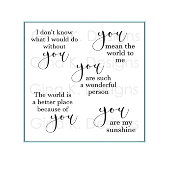 Gina K Designs ALL ABOUT YOU Clear Stamps 1158