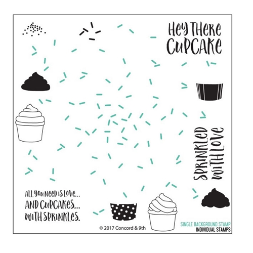 Concord & 9th SPRINKLES TURNABOUT Clear Stamp Set 10240 Preview Image