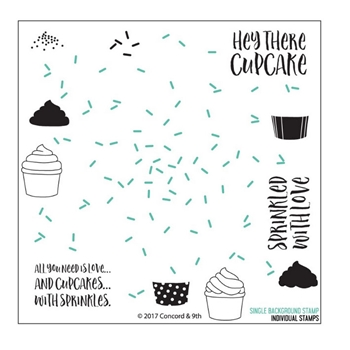 Concord & 9th SPRINKLES TURNABOUT Clear Stamp Set 10240