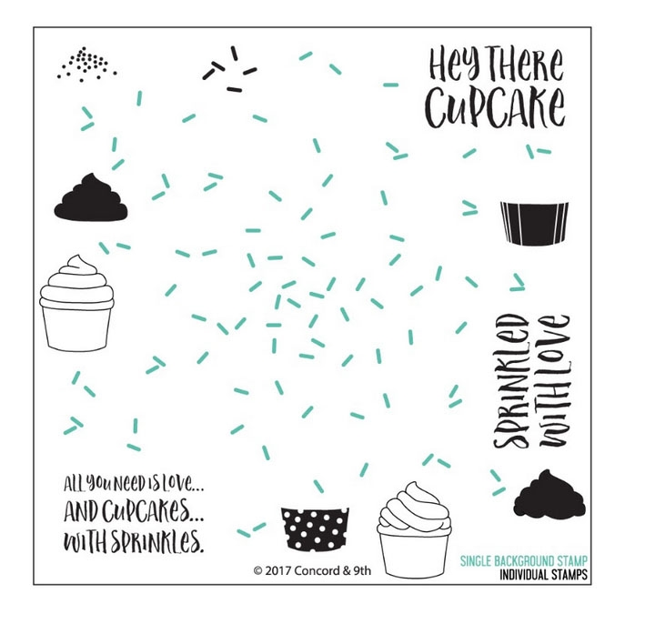Concord & 9th SPRINKLES TURNABOUT Clear Stamp Set 10240 zoom image