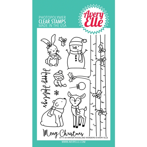 Avery Elle Clear Stamps WINTER WOODLAND WONDERS Set ST-17-34 Preview Image