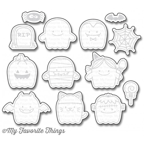 My Favorite Things FAB-BOO-LOUS FRIENDS Die-Namics MFT1158* Preview Image
