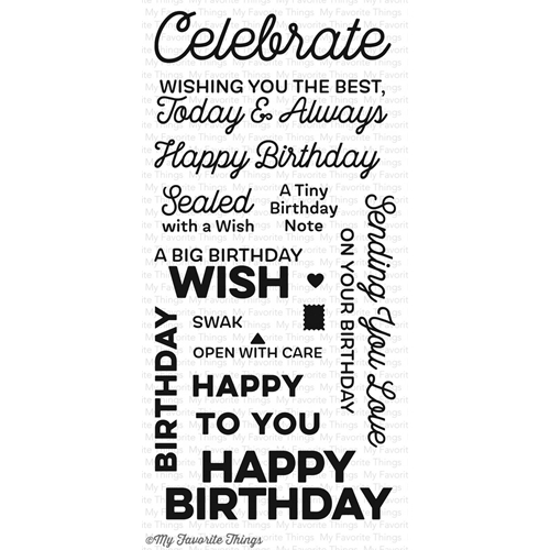 My Favorite Things BIG BIRTHDAY WISHES Clear Stamps CS211 Preview Image