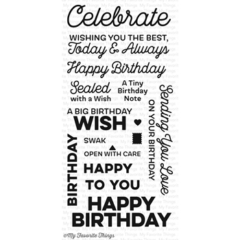 My Favorite Things BIG BIRTHDAY WISHES Clear Stamps CS211