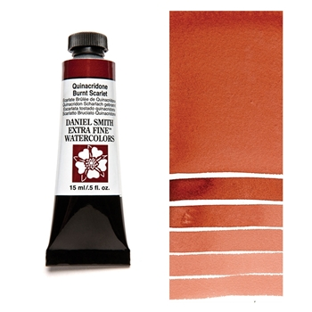 Daniel Smith QUINACRIDONE BURNT SCARLET 15ML Extra Fine Watercolor 284600087*