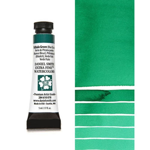 Daniel Smith PHTHALO GREEN BLUE SHADE 5ML Extra Fine Watercolor 284610078 zoom image