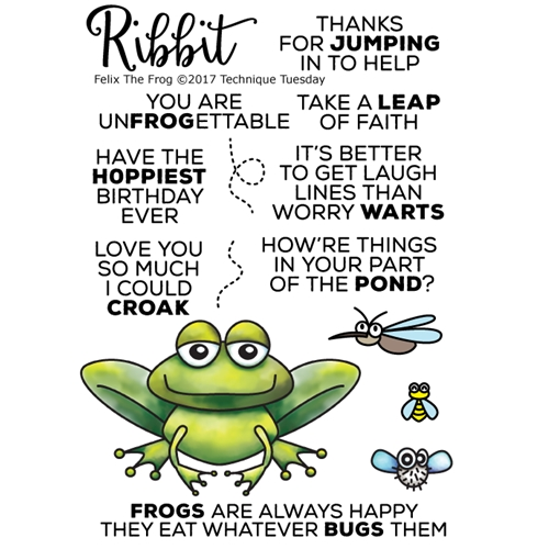 Technique Tuesday FELIX THE FROG Clear Stamps 02519 Preview Image