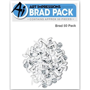 Art Impressions WHITE BRADS Pack of 50 Wiggle Wobbles 4968