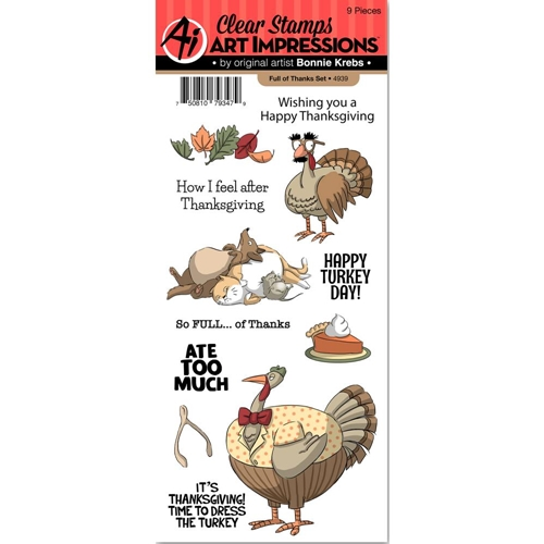 Art Impressions FULL OF THANKS Clear Stamps 4939 Preview Image