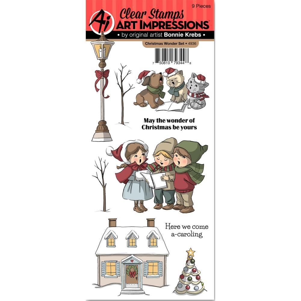 Art Impressions CHRISTMAS WONDER Clear Stamps 4936 zoom image