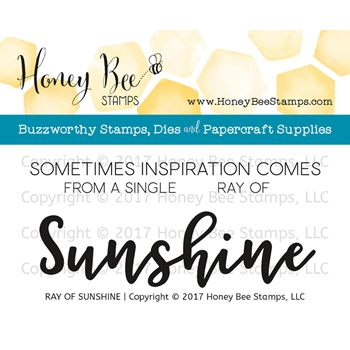 Honey Bee RAY OF SUNSHINE Clear Stamp Set HBST-073