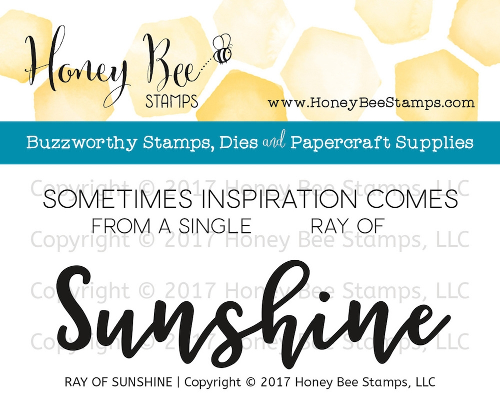 Honey Bee RAY OF SUNSHINE Clear Stamp Set HBST-073 zoom image