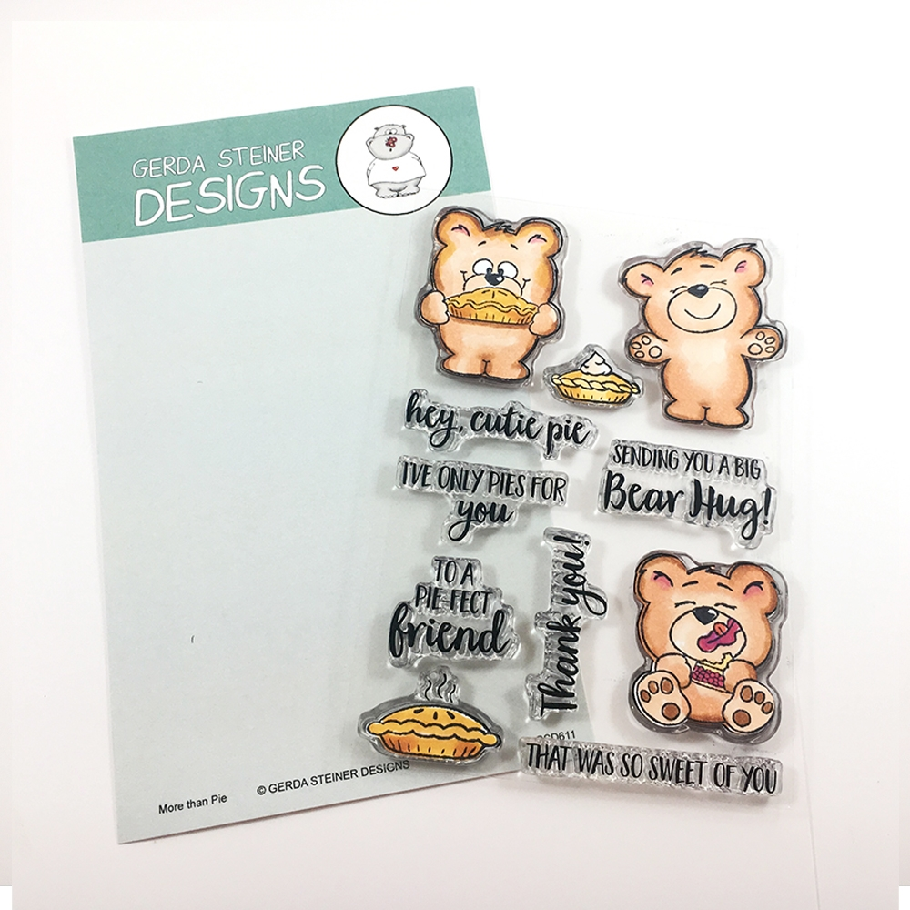 Gerda Steiner Designs MORE THAN PIE Clear Stamp Set GSD611 zoom image