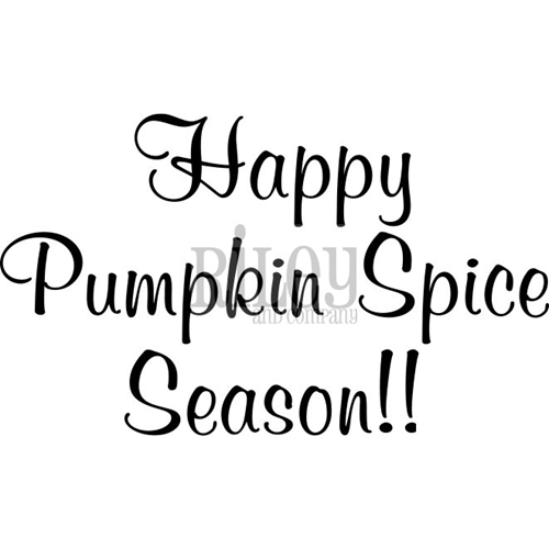 Riley And Company Funny Bones HAPPY PUMPKIN SPICE DAY Cling Rubber Stamp RWD-600* Preview Image
