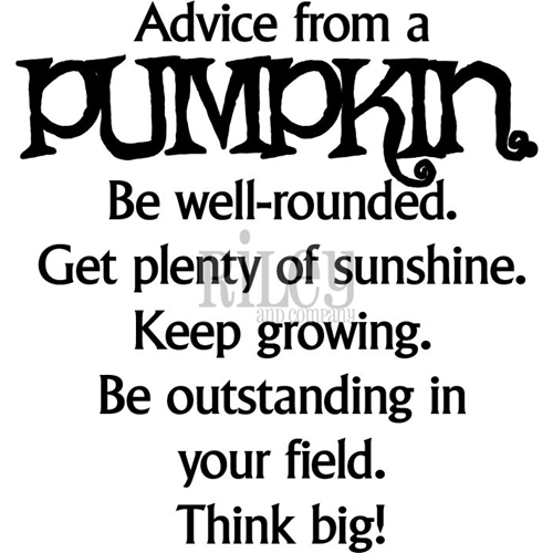Riley And Company Funny Bones ADVICE FROM A PUMPKIN Cling Rubber Stamp RWD-596 Preview Image