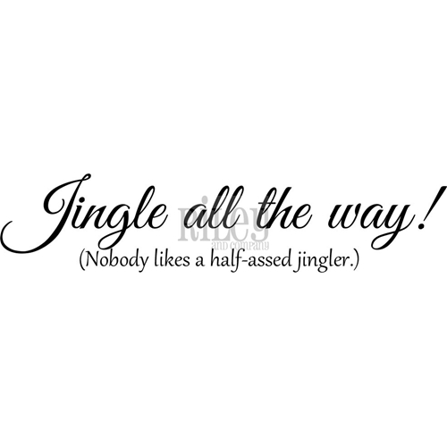 Riley And Company Funny Bones JINGLE ALL THE WAY Cling Rubber Stamp RWD 594 Preview Image