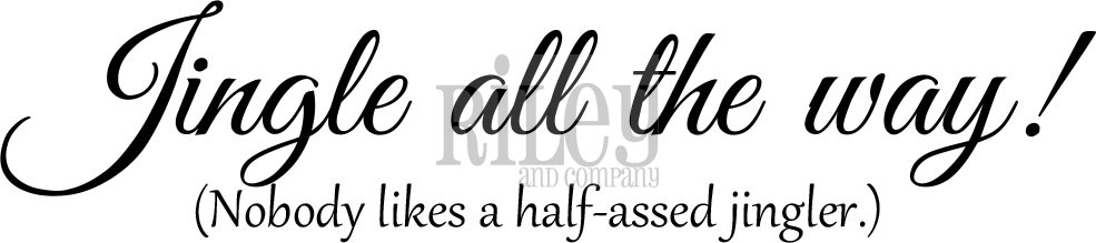 Riley And Company Funny Bones JINGLE ALL THE WAY Cling Rubber Stamp RWD 594 zoom image