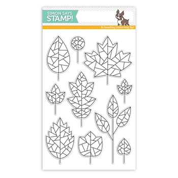 Simon Says Clear Stamps FRACTILE LEAVES SSS101753