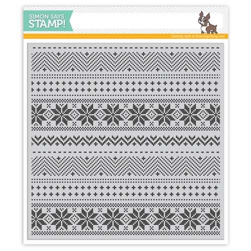 Simon Says Cling Rubber Stamp CHRISTMAS SWEATER BACKGROUND SSS101756 Preview Image