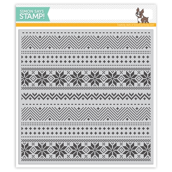 Simon Says Cling Rubber Stamp CHRISTMAS SWEATER BACKGROUND SSS101756