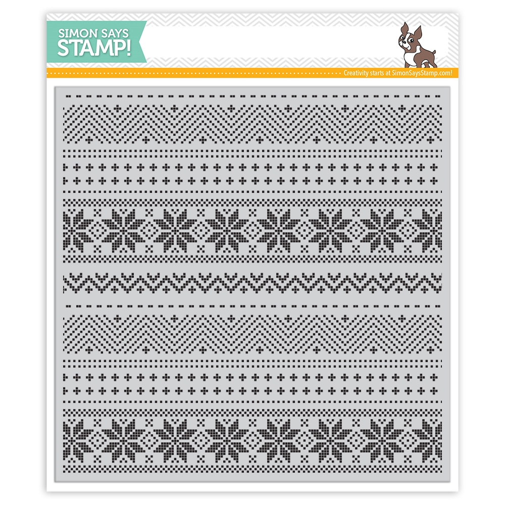 Simon Says Cling Rubber Stamp CHRISTMAS SWEATER BACKGROUND SSS101756 zoom image