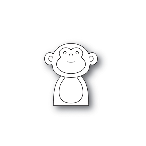 Simon Says Stamp PICTURE BOOK MONKEY Wafer Dies S465 Preview Image