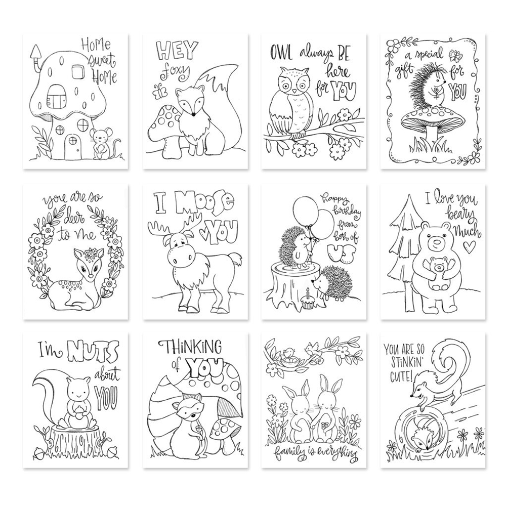 Simon Says Stamp Suzy's FOREST FRIENDS Watercolor Prints SZFF17 zoom image