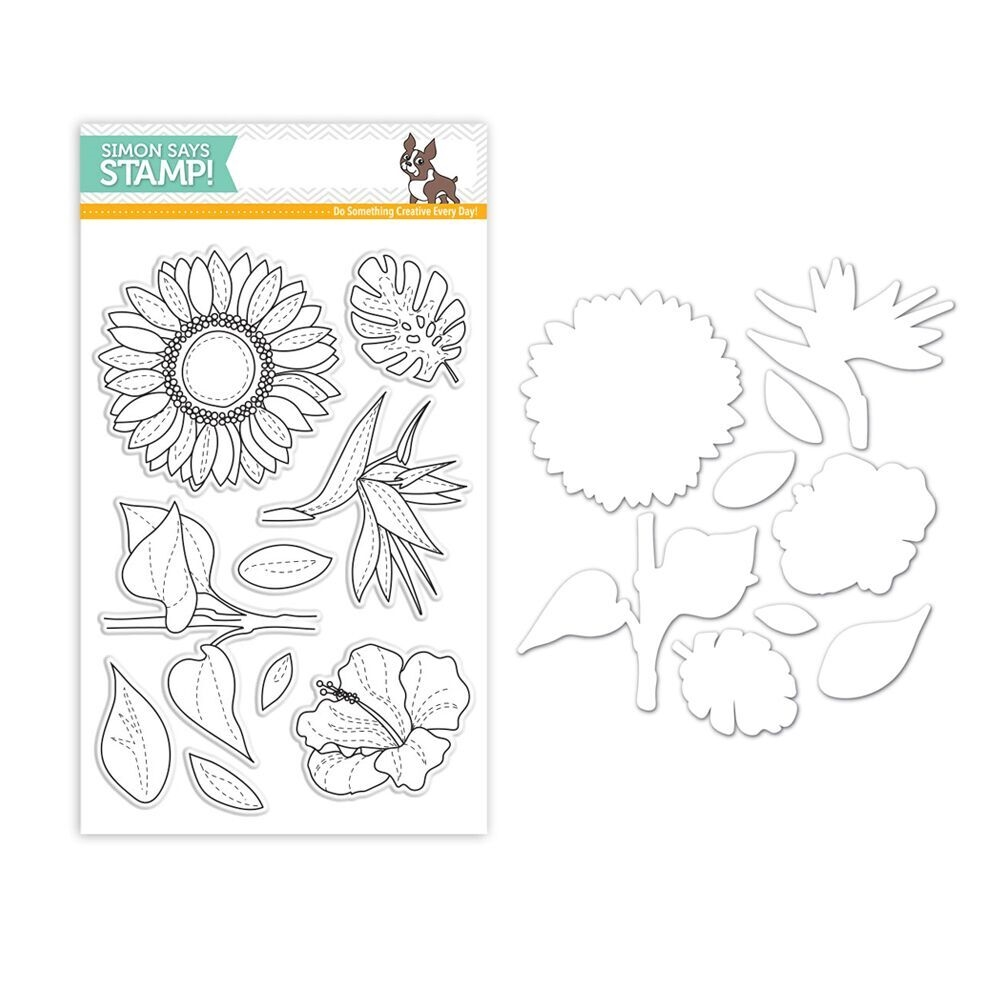 Simon Says Stamps And Dies SUMMER FLOWERS Set309SF zoom image