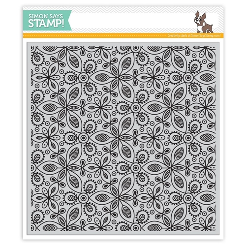 Simon Says Cling Rubber Stamp KALEIDOSCOPE LEAVES SSS101762 Preview Image