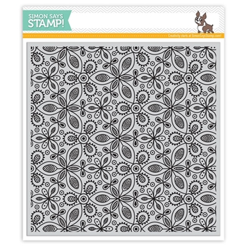Simon Says Cling Rubber Stamp KALEIDOSCOPE LEAVES SSS101762