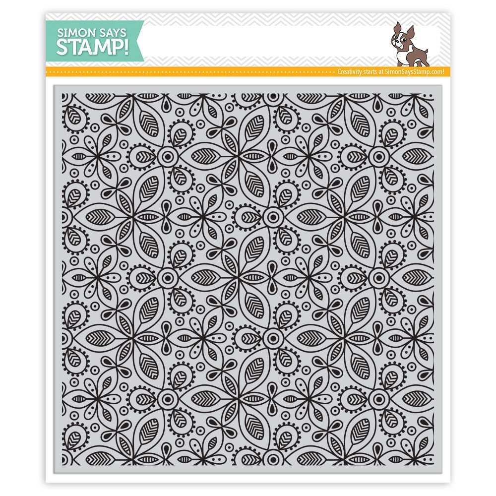Simon Says Cling Rubber Stamp KALEIDOSCOPE LEAVES SSS101762 zoom image