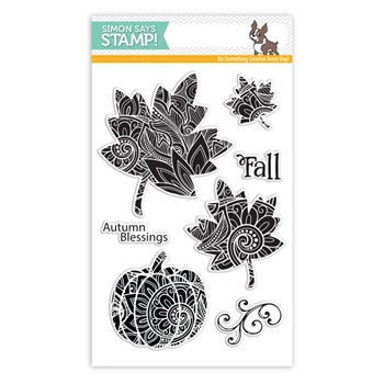 Simon Says Clear Stamps ORNATE LEAVES SSS101765 *