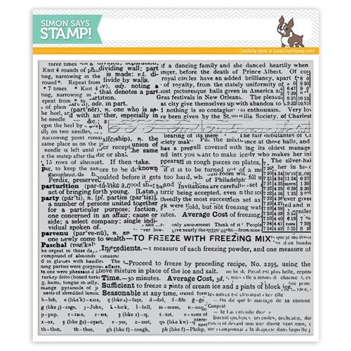 Simon Says Cling Rubber Stamp GOOD READING BACKGROUND SSS101723 Preview Image