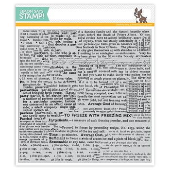 Simon Says Cling Rubber Stamp GOOD READING BACKGROUND SSS101723