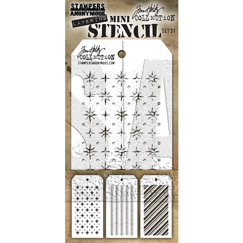 Tim Holtz MINI STENCIL SET 31 MST031 Preview Image