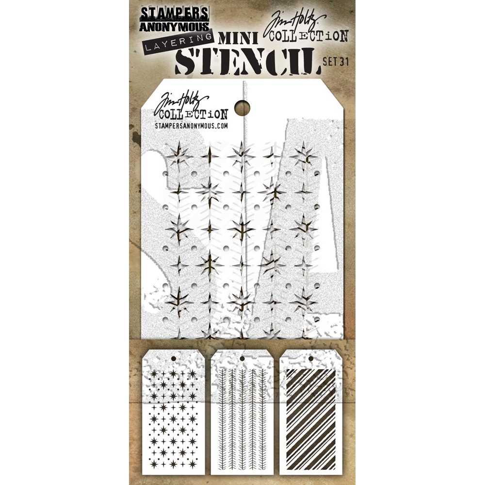Tim Holtz MINI STENCIL SET 31 MST031 zoom image